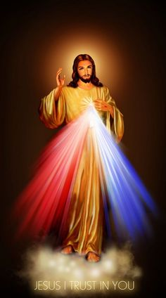 Jesus, I Trust in You. Divine Mercy Image. Venerate this Image Daily - Click image to honor and respect. I promise that anyone who endearingly venerates this Image of My Divine Mercy will not perish.  Beautiful Catholic Prayers.  SimplicityHumilityTrust.org