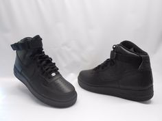 Nike Air Force 1 High '07 Basketball Sneakers Leather Black Mens Size 9 NWOB!