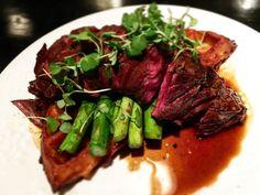In #Omaha it's #steak n #waffles @bouillonomaha #wagyu #hangarsteak #redwinereduction #lebouillon #omahanebraska #omahappening #omahafood Red Wine Reduction, Waffles, Steak, Cooking, Food, Kitchen, Essen, Waffle, Steaks