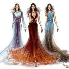 Roberto Cavalli FW 15-16 fashion illustrations.  #Hariswebdesign, #Webdesigner, #Creative, #Illustration, www.harisw.com