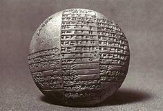 Circular clay tablet from Lagash, Iraq, c. 1980 B.C.