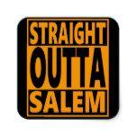 Straight Outta Salem Halloween Fanatic Square Sticker #halloween #happyhalloween #halloweenparty #halloweenmakeup #halloweencostume