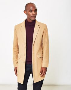 Treat yourself to a new winter coat with The Idle Man Crombie in Tan. Available from menswear retailer THE IDLE MAN.