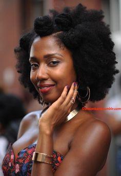 Essence Block Party DUMBO, Brooklyn Photographer: Damion Reid || bantu knots style. natural hair. afro hair. texture. kinks. beauty. texture details.