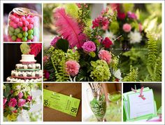 pink and green #wedding #details