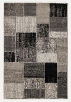Teppich in Grau mit ansprechendem Muster