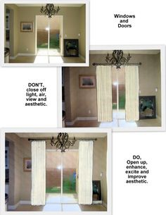 How to Hang Curtain Rod Over Sliding Door