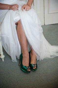 Wedding Shoes Green Irish Wedding by Parisxox on Etsy, $138.00