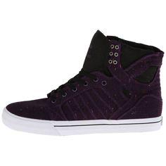 Supra Skytop Mens S18231 Plum Purple Stylish Shoes Hi Top Sneakers Size 10 #Supra #AthleticSneakers