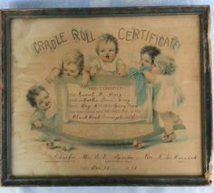 Is it stained? Is it yellowed? Is it adorable? This nursery certificate is dated December The frame is a blue-gray and worn in places. It measures 13 x Under glass. This would look so cute in a nursery or childs room. Rock A Bye Baby, Vintage Nursery, Vintage Images, Certificate, Blue Grey, Kids Room, Rolls, Nursery Ideas, Frame
