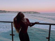 #ocean #sky #pink #hair #sunset #beautiful #sydney #bondibeach #beach