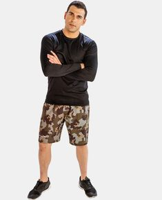 Alanic US sets the highest quality expectations and assures that any consumer receives customized and pleasing clothing collection of men's shorts. Visit the website and make your purchase. Mens Yoga Shorts, Running Shorts, Workout Shorts, Camouflage Shorts, Camo Shorts, Men's Shorts, Camo Fashion, Mens Fashion, Mens Fitness