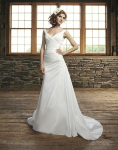 dress- love the rouching, but don't like the straps or material. i love the setting though!