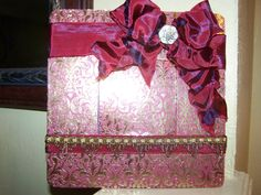 Gold/Maroon picture frame