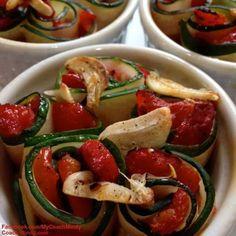 Zucchini Pepper Rollups.  Zucchini is all around us! Gardens, supermarkets, and our wonderful Farmer's Markets. Need a fabulous zucchini recipe?