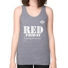 BAAM RED FRIDAY Unisex Fine Jersey Tank (on woman)