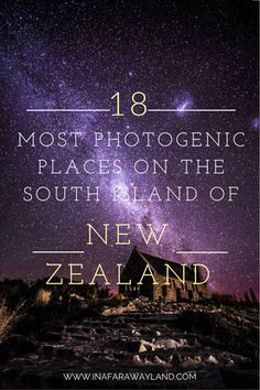 18 Most Photogenic Places on The South Island of New Zealand - work travel Nz South Island, New Zealand South Island, New Zealand Itinerary, New Zealand Travel, Brisbane, Sydney, Pacific Coast Highway, Auckland, Bungee Jumping