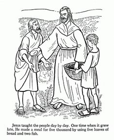 Jesus Teaches Coloring Pages