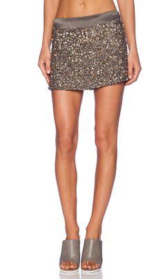 YFB CLOTHING Embellished Mini Skirt in Olive | REVOLVE