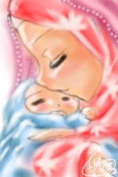Muslim Mother and Infant