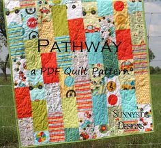 Free Layer Cake Quilt Patterns | PDF Quilt Pattern Pathway Layer Cake Baby Quilt and Throw