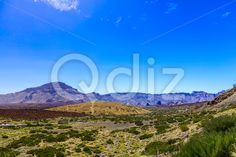 Qdiz Stock Images Mountains on Tenerife Island in Spain,  #blue #Canary #day #green #island #landmark #landscape #mountain #nature #park #road #rock #sky #Spain #spring #summer #Tenerife #Travel #view