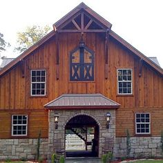 The Olympic 72 - Barn Pros. Hayloft door and stable door entry inspiration. Like  sc 1 st  Pinterest & Denali 36 - Barn Pros. Good mixture of stone and wood siding. Love ...
