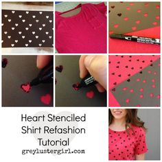 great idea - make a stencil and use fabric markers to make any design you want!