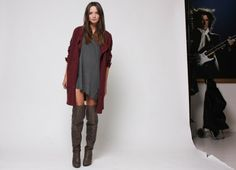 Knee high boots and dress from Columbine Smille