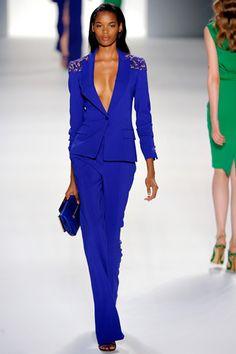 Elie Saab Spring/Summer 2012 Ready-to-Wear Paris Fashion Week Fashion Week Paris, Runway Fashion, Womens Fashion, Haute Couture Style, Blue Fashion, High Fashion, Fashion Show, Terno Casual, Lady