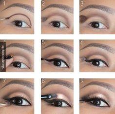 Perfect make-up for brown eyes! - Beauty home - The perfect eye make-up up Sie sind an der richtigen Stelle für make-up aesthetic H - Vintage Makeup, Highlighter Makeup, Contour Makeup, Diy Makeup, Makeup Tips, Makeup Ideas, Maquillaje Smokey Eyes, Make Up Tricks, Makeup For Blondes