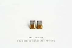 Fall For DIY Concrete Dipped Earrings