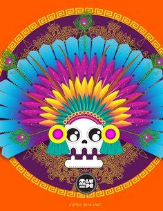 Penacho Mexico Day Of The Dead, Chicano Art, Unicorn Art, Illustrations And Posters, I Am Happy, Graffiti, Wallpaper, Drawings, Maya