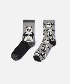 Pack de 2 calcetines panda