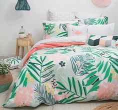 Bambury Lani Double Bed Quilt Cover Set Source by daggger Dream Bedroom, Home Bedroom, Bedroom Decor, Master Bedroom, My New Room, My Room, Home Interior, Interior Design, Tropical Bedrooms
