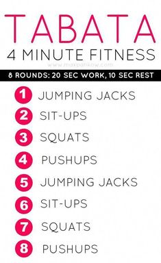 4 Minute Fat Burning Tabata Workout – Burn Fat up to 24 Hours #StomachFatBurningFoods Fitness Workouts, At Home Workouts, Fitness Tips, Fitness Motivation, Fitness Plan, Yoga Fitness, Cardio Workouts, Fat Workout, Workout Plans