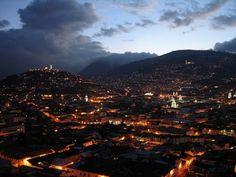 The city of Quito, E
