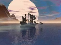 A dream boat . Greek Music, Moon Magic, Me Me Me Song, Creative Cards, My Arts, Songs, Building, Nature, Travel
