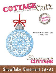 CottageCutz Snowflake Ornament (3x3)