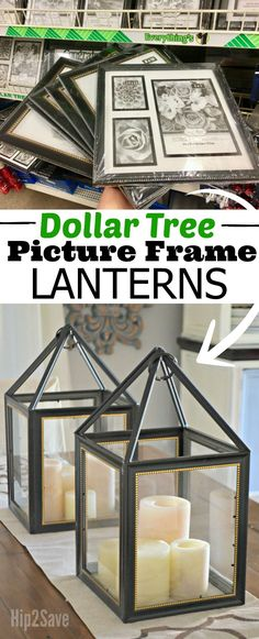 DIY Dollar Tree Picture Frame Lanterns – Hip2Save