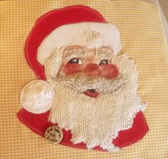 Detail of Santa applique cushion https://www.facebook.com/ke.shuni