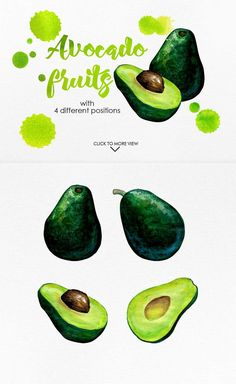 Watercolor Fruits Vol. 3 by iGRAPHOBIA on @creativemarket