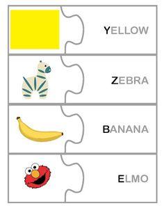 Resultado de imagen para free printable letter match puzzle
