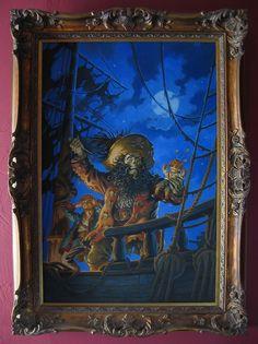 "Original Steve Purcell paint #cover #MonkeyIsland2 ""Le Chuck's Revenge"" Power Glove, Lucas Arts, Monkey Island, Adventure Games, Dead Man, Yuu, Pirates Of The Caribbean, Revenge, Videogames"
