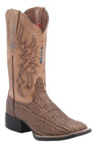 Tony Lama 3R Women's Pecan Elephant with Blush Austin Top Square Toe Western Boot | Cavender's