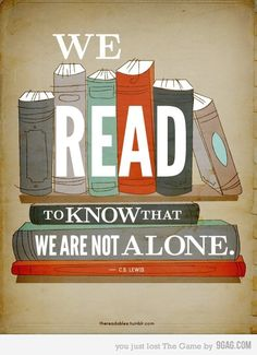 We are never alone if we have books