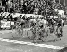 Jan Janssen sprints to the finish line of Paris-Roubaix in 1967
