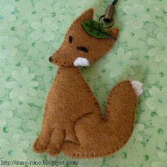Fox with a leaf
