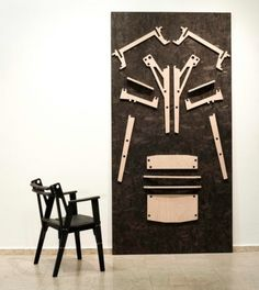 Industrial Chair Collection Made Without Glue Or Screws | DigsDigs