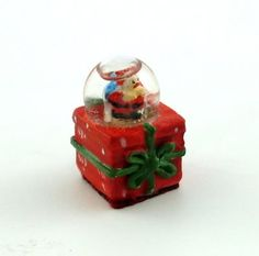 Dolls House Miniature 1:12 Scale Accessory Ornament Christmas Present Snow Globe | Melody Jane Dolls Houses